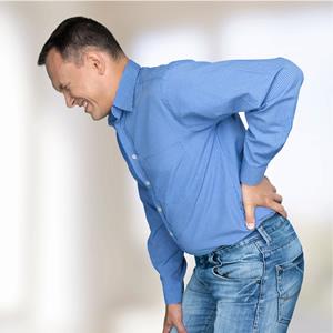 Svalový spazmus v spodnej časti chrbta - seknutie v krížoch